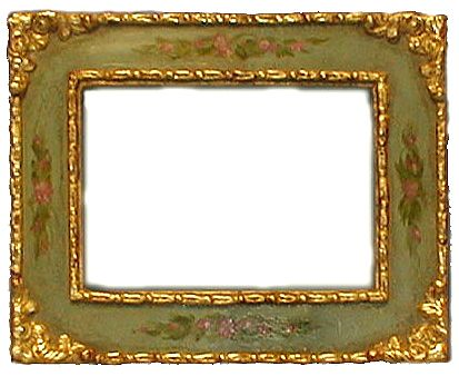new pine frame with applied composition ornament water gilded with 22k gold casein with floral decoration on flat areas